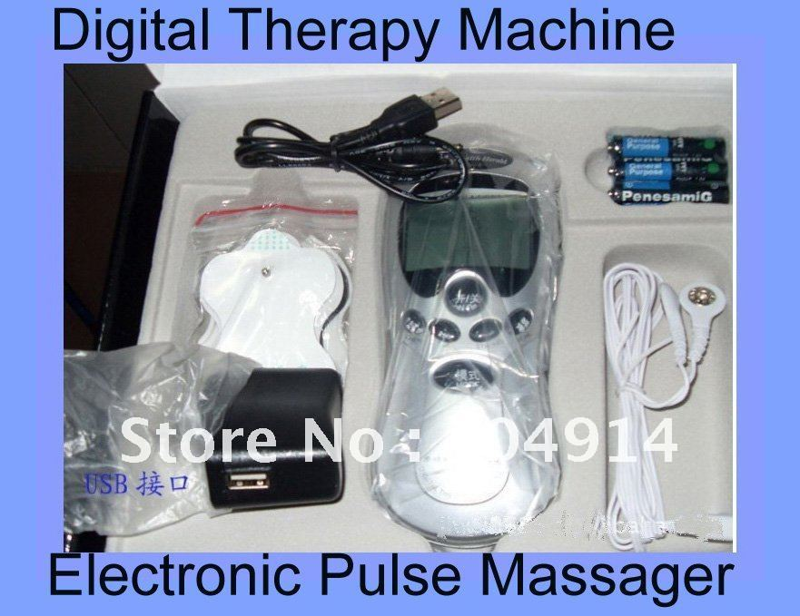Digital Therapy Machine Healthy electronic pulse Acupuncture massager health care equipment Free Shipping , Dropshipping(China (Mainland))