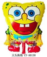 Free shipping 50pcs/lots wholesales SpongeBob balloons , Helium balloons ,children toys ,58X43cm