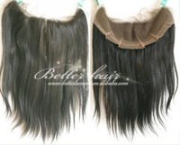 "TOP quality  brazilian  hair lace frontal,4*13 , 14"" color#1 natural straight"