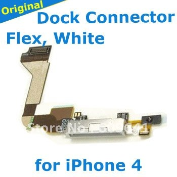 wholesale for iphone 4 accessories, Charger Dock Connector Flex Cable for iphone 4G,,Black 10 pcs/lot, Free Shipping(China (Mainland))
