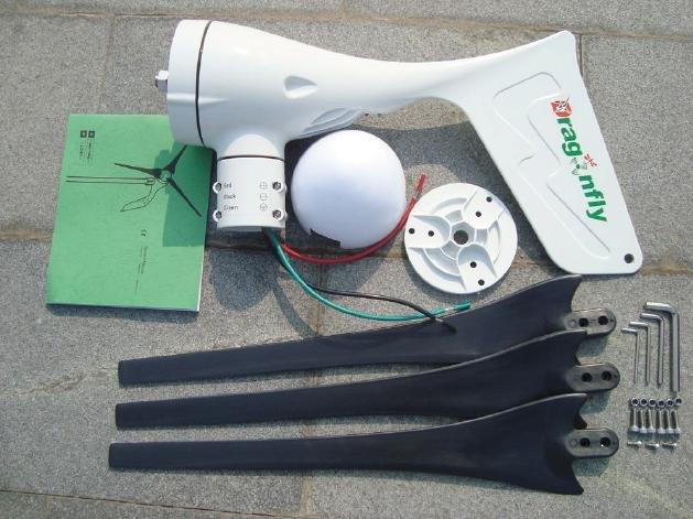 Free shipping DHL new 600W wind power generator with Mppt controller, 12V/24V auto distinguish Wind turbine(China (Mainland))