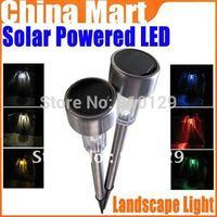 Solar Powered Outdoor Garden Light LED Home Sportslight Landscape Lamp Stainless Steel