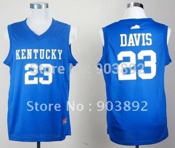 Ncaa Kentucky Wildcats #23 Anthony Davis blue college basketball jerseys mix order free shipping