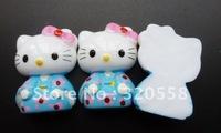 "1"" Lovely Hello kitty Kimono DressFlatBack Resins Scrapbooking Embellishment 50pcs Free Shipping"