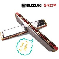 New authentic suzuki 24 hole cheap beginner harmonica for sale,c harmonica notes, send studying tutorials,Free shipping