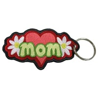 wholesale keychain,materal: twill, size: 1.5&quot; wide, merrow &amp; heat cut, emb. two side, accept customized, MOQ100pcs,free shipping