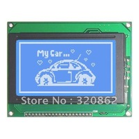 Freeshipping Graphic LCD display modules 128x64 KS0108  STN Blue Negative with white led