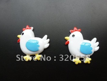 "1"" Lovely Hen Resins Scrapbooking Embellishment 50pcs Free Shipping"