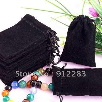 Free Shipping 100Pcs 7x9cm Velvet Drawstring  Pouch Bag/Jewelry Bag,Christmas/Wedding Gift Bag