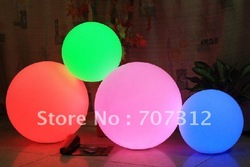 "10"" Big size led decoration ball , garden swimming pool ball light 25CM diameter(China (Mainland))"