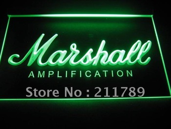 b0337-b Marshall Guitars Bass Amplifier Neon Light Sign