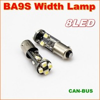 20pcs/lot New Canbus BA9S 8SMD 3528 LED width Lamp For signal indicator light  No error signal report