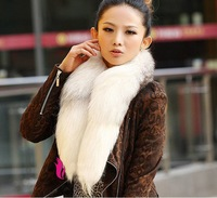 Free shipping 2014  new lades natural Fox collar fur scarf woven with fur scarves loest  price