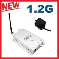 1.2ghz Wireless Mini hidden camera kit, Micro pinhole camera button shape CCTV Surveillance