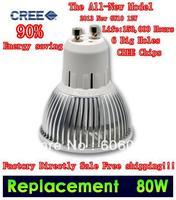 Светодиодная лампа US$150 Off US10 DHL Fedex 4 Pack GU10 E14 E27 3X3W 9W 50W / 4X3W 12W 80W dimmable High power CREE Light LED Bulb Lamp Downlight