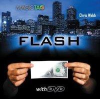 60pcs wholesale - flash by Chris Webb-- close-up magic trick / paper change to bill /