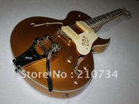 Wholesale - New Arrival ES137 Hollow Jazz Guitar with Bigbys Goldtop Musical instruments HOT