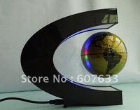 2pcs/lot Cool Home Decoration Magnetic Levitation Floating Globe World Map LED Light Magic Gift Color Novel Lights