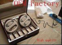WB3406  gift box  jewelry box wooden box watch box  WATCHWINDER 4 X 6 WATCH DRK