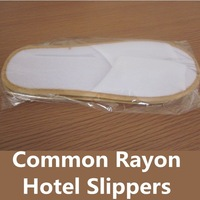Common Rayon fabrics Slipper,Hotel supplies,hotel disposable,LOGO OEM customized,Factry directly