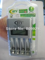 AA   AAA Ni-Mh Ni-Cd Rechargeable Cell Battery Fast Quick Speed Smart LCD Charger