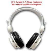 2012  Durable HI-FI Folding Headphone Mp3+FM+LCD+as traditional Headphone,5colours ,can mix order