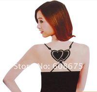 fashion double heart Bra strap sexy bra strap invisible Bra Belt summer underwear women love
