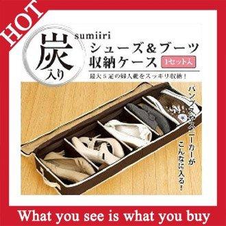 Free Shipping 20pcs Non-Woven Fabric Women Shoe Box Coffee Charcoal Storage Boxes  -- STG10 Wholesale