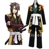 Free Shipping Hakuoki Souji Okita Cosplay Costume XXS-4XL