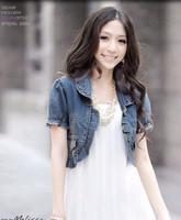 Summer female denim coat short design denim cardigan spring hot-selling denim top vest
