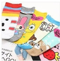 Free Shipping Women's Cotton Cartoon Lovely Socks,women's ankle socks
