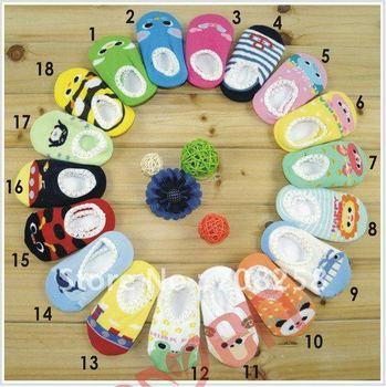 20pairs- Cute animal design knitted baby socks, infant baby anti-slip socks,kids home socks,10+ colors,Free shipping,420#