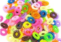 Newest 150pcs a lot Multicolor Candy Phone Rope Hair Ring/Telephone line Rings, Elastic Hairband for Girl Ornament!Free ship!