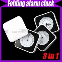 Roll Folding 3 in 1 Hygrometer Thermometer Alarm Clock #1455