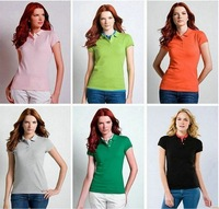 2012 New StyleT-shirt  Woman's shirt Short Sleeve T-shirt 100% Original Cotton V-neck Drop Shipping Best Quality
