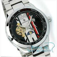 Наручные часы Men Watches Automatic Mechanical White Number Deco Dial Wrist watch Sport Xmas Gift Ship
