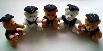 Free Shipping Graduation Bear , Dr. Bear , teddy bear plush toys, Handset hang a piece