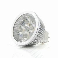 Free shipping special price 12pcs/lot 4W MR16 12V 4x1w Warm White/Day White LED Lamp Light Bulb