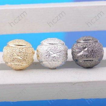 100pcs/lot  multicolor for option alloy silver gunmetal gold ball loose bead strand fit handcraft braiding bracelet necklace DIY