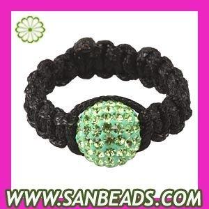 Free shipping! 5pcs/lot Fashion beautiful shamballa Macrame Green Czech Crystal Rings for women