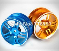 Free Shipping 1/10 on-road rc car used 5 Dual-spoke CNC Aluminum Wheel Rim