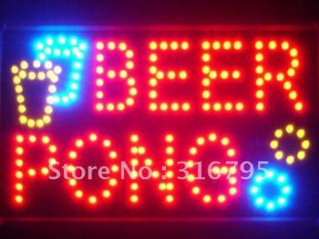 led015-r Beer Pong Bar Pub LED Neon Business Light Sign