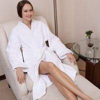 Waffle Cotton fabrics bathrobe/pajamas,5 star international hotel,disposable,LOGO OEM customized,Factry directly