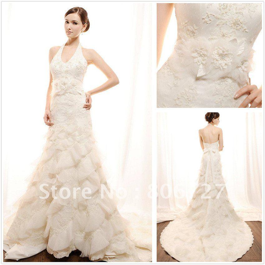 Halter Wedding Dresses With Low Back Wedding Dress Low Back
