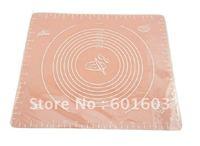 wholesale-free shipping Miduim Size 40*50cm Heat-resistent Soft Flexible Scale FDA Silicone Baking Mat