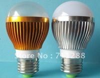 3W Globe LED bulb pure white, LED spot light AC85-265V wholesale 4pcs/lot + free shiping