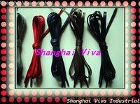 DHL free shipping  50pair/lot , 4mm width , 120cm long  flat waxed shoelace/ wax shoelace/cotton shoelace