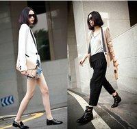 Womens One Button Lapel Casual Suit Blazer Jacket Coat Unique Design S M