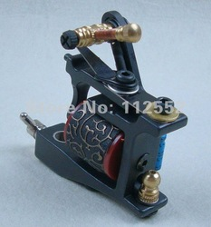 Hot cast iron single-coil professional fight fog hook line one tattoo machine + Free Shipping(China (Mainland))