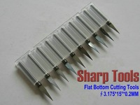 10pcs 3.175mm Shank 15 Degree 0.2mm Flat Bottom Tools, Wood Engraving Bits, Carbide Tool Bit Set, V Shape PCB Cutters on Acrylic